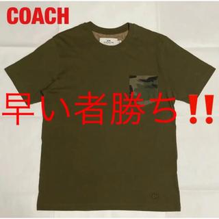 COACH - 【希少】COACH コーチ ポケットTシャツ 迷彩柄 モノグラム F67003