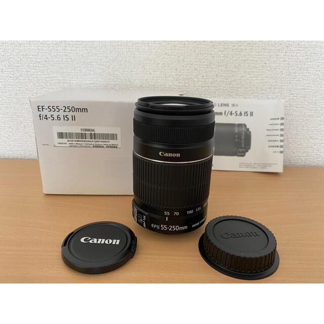 Canon(キヤノン)のキャノンレンズ Canon 55-250mm 1:4-5.6 IS II  スマホ/家電/カメラのカメラ(レンズ(ズーム))の商品写真