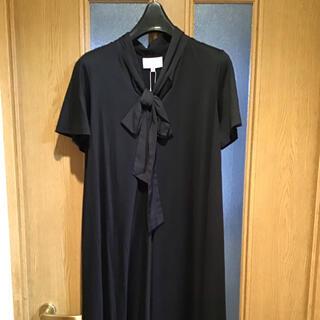 ヴィヴィアンウエストウッド(Vivienne Westwood)の新品未使用 ビビアンウエストウッド リボンタイ フレア ワンピース ブラック(ロングワンピース/マキシワンピース)
