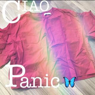 チャオパニック(Ciaopanic)のCIAOPANIC チャオパニック レディース トップス 袖フリル(カットソー(半袖/袖なし))