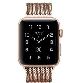 【B38】Apple Watch ミラネーゼループ42mm/44mm(ゴールド)(その他)