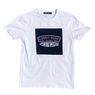 スタンダードカリフォルニア(STANDARD CALIFORNIA)の夏コーデ LUSSO SURF スクエアプリントTシャツ Mサイズ☆RVCA(Tシャツ/カットソー(半袖/袖なし))