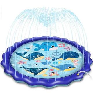 噴水マット 170CM直径ビニールプール 子供噴水おもちゃ