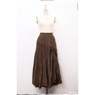 her lip to Cotton-Voile Skirt エスプレッソS
