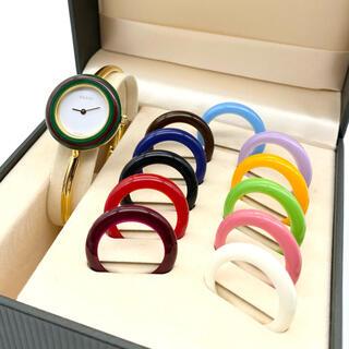 Gucci - 良品☆GUCCI 新品電池 チェンジベゼル Mサイズ レディース腕時計