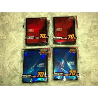 コナミ(KONAMI)の遊戯王 遊我レッド・ルークブルー プロテクター 4点セット(カードサプライ/アクセサリ)