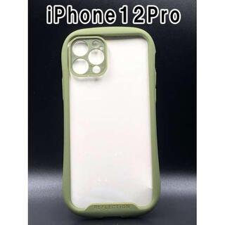 iPhone12Pro ケース シンプル スマホ 韓国 大人気 カーキ F