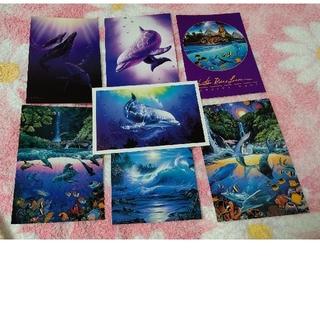 ポストカード クリスチャン・ラッセン 7枚セット+オマケ2枚(印刷物)