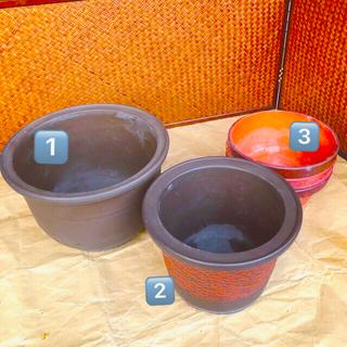 植木鉢 陶器鉢 常滑焼 萬古焼 デザイン鉢 駄温鉢7号3個 計5個セット(プランター)