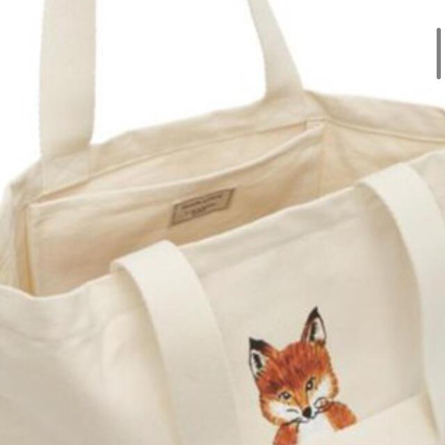 MAISON KITSUNE'(メゾンキツネ)の【新品】メゾンキツネMAISON KITSUNE LOTUS FOXトートバッグ レディースのバッグ(トートバッグ)の商品写真