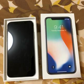 iPhone - iPhoneX 64GB シルバー