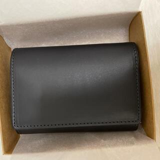 ムジルシリョウヒン(MUJI (無印良品))のイタリア産ヌメ革 三つ折り財布 黒(折り財布)
