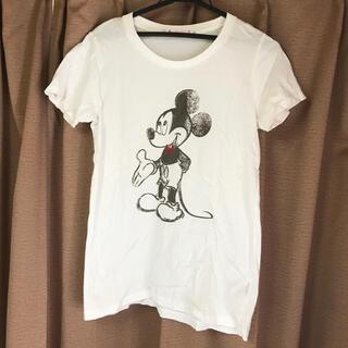 ユニクロ(UNIQLO)のユニクロ UT ミッキーTシャツ ホワイト Lサイズ(Tシャツ(半袖/袖なし))