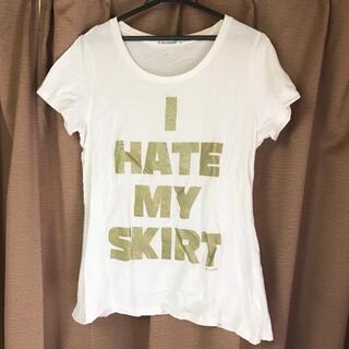ユニクロ(UNIQLO)のユニクロ UT ロゴTシャツ ホワイト  Lサイズ(Tシャツ(半袖/袖なし))