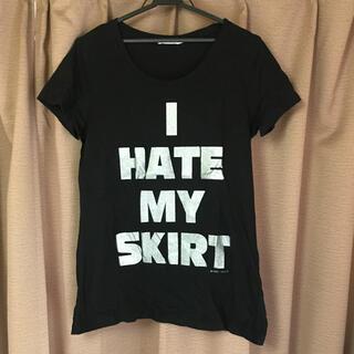 ユニクロ(UNIQLO)のユニクロ UT ロゴTシャツ ブラック Lサイズ(Tシャツ(半袖/袖なし))