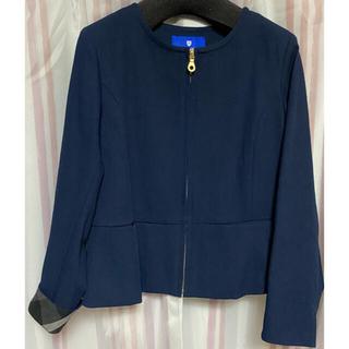 バーバリーブルーレーベル(BURBERRY BLUE LABEL)のブルーレーベル ノーカラージャケット(テーラードジャケット)