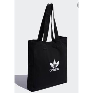 adidas - adidas トートバッグ アディダスオリジナルス ロゴ A4収納 大容量 黒