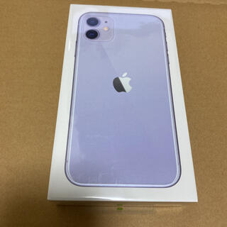 アイフォーン(iPhone)の新品未開封 iPhone11 パープル 128GB SIMフリー ストア版(スマートフォン本体)
