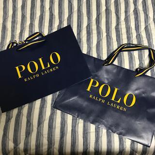 ポロラルフローレン(POLO RALPH LAUREN)の【セーター購入時の紙袋】POLOの紙袋大きめサイズ2セット(ショップ袋)