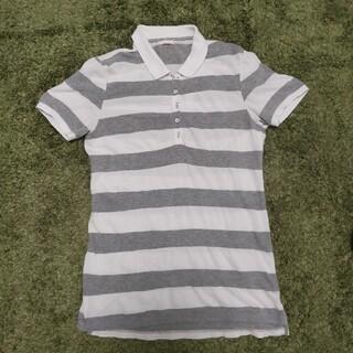ユニクロ(UNIQLO)のユニクロ UNIQLO ポロシャツ ボーダー M レディース 半袖 夏服(ポロシャツ)