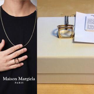 マルタンマルジェラ(Maison Martin Margiela)の新品 S マルジェラ 20ss 4スティッチリングネックレス 1067(リング(指輪))