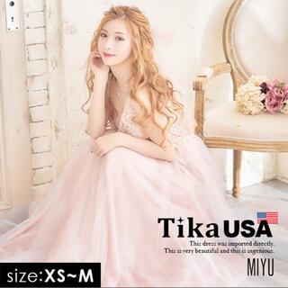 ジュエルズ(JEWELS)の【美品】Tika キャバドレス ロングドレス Mサイズ(ロングドレス)