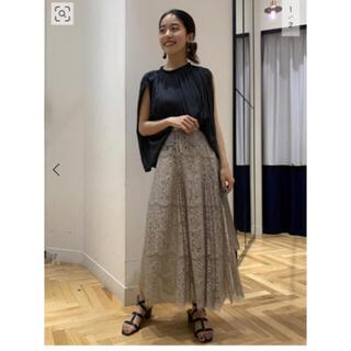 DEUXIEME CLASSE - VERMEIL par iena カラーレースラップスカート◆