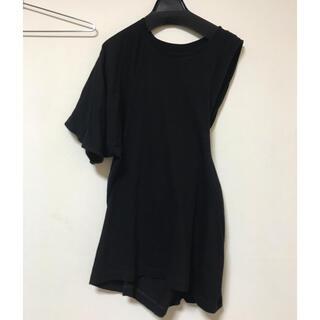 エムエムシックス(MM6)のMM6/Maison Martin Margiela/アシンメトリーTシャツ(Tシャツ/カットソー(半袖/袖なし))