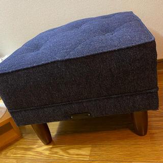 カリモクカグ(カリモク家具)のken10様 カリモク60 オットマン タープブルー(オットマン)