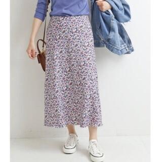IENA - イエナ♡デシンプリントスリットスカート 40
