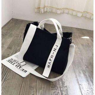 ⭐️新品⭐️ 黒 キャンバス トート ショルダー ポーチ マザーズバッグ