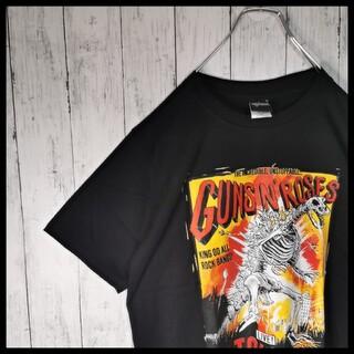 Guns N' Roses ガンズアンドローゼズ 両面プリント ロックTシャツ