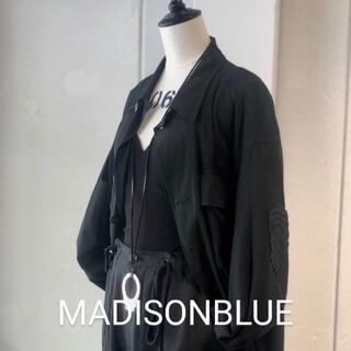 マディソンブルー(MADISONBLUE)のマディソンブルー ミリタリー シャツジャケット 黒(ミリタリージャケット)