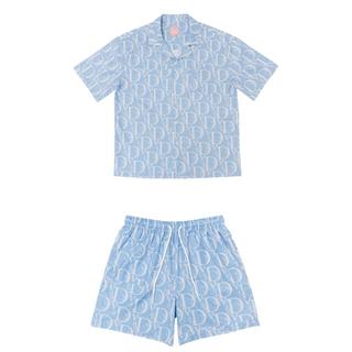 VANDYTHEPINK セットアップ ブルー M(Tシャツ/カットソー(半袖/袖なし))