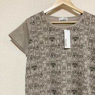 新品・タグ付き◎わんちゃん総柄Tシャツ♪