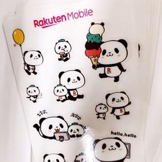 Rakuten - 楽天パンダ シール ステッカー 3枚セット