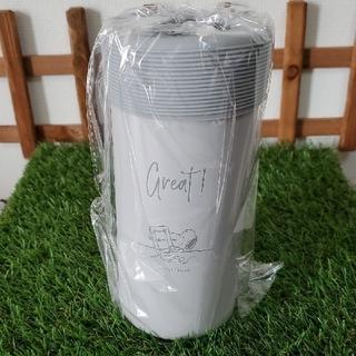 スヌーピー(SNOOPY)の新品♡スヌーピー 真空保冷ペットボトルホルダー  グレー(タンブラー)