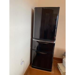 ミツビシ(三菱)の冷凍冷蔵庫 三菱 MITSUBISHI ブラウン 3ドア冷蔵庫 ノンフロン(冷蔵庫)