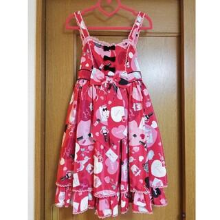 アンジェリックプリティー(Angelic Pretty)のAngelic Pretty Lovely shopping JSK  赤(ひざ丈ワンピース)