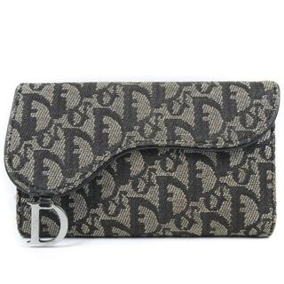 ディオール(Dior)のクリスチャンディオール トロッター サドル キャンバス カーキ レデ(財布)