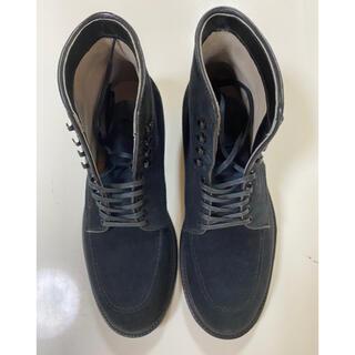 オールデン(Alden)のオールデン インディーブーツ ネイビースェード 7.5(ブーツ)