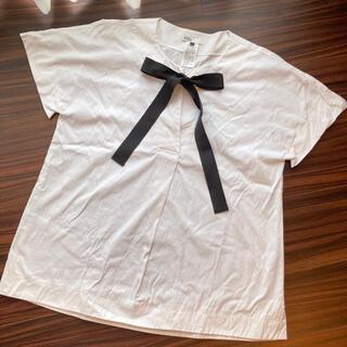ダブルスタンダードクロージング(DOUBLE STANDARD CLOTHING)のダブルスタンダードクロージング リボン付きビッグTシャツ(Tシャツ(半袖/袖なし))