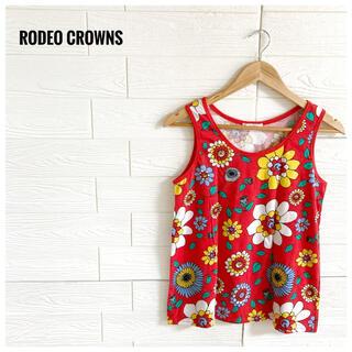 ロデオクラウンズ(RODEO CROWNS)の【美品】RODEO CROWNS ロデオクラウンズ  タンクトップ レディース(タンクトップ)