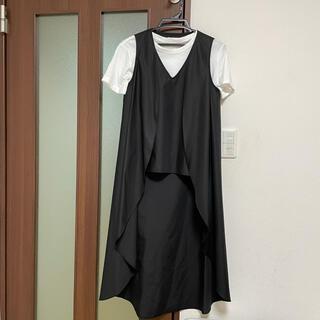 ダブルスタンダードクロージング(DOUBLE STANDARD CLOTHING)のダブスタ♡ロングジレ付きノースリーブカットソー36(カットソー(半袖/袖なし))