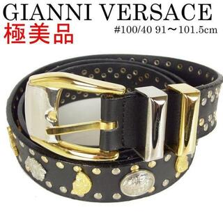 ジャンニヴェルサーチ(Gianni Versace)のジャンニ ヴェルサーチ 極美品 メンズ ヴィンテージ メデューサ レザー ベルト(ベルト)