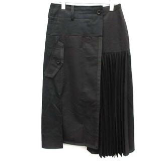 サカイ(sacai)のサカイ 21SS Suiting Skirt スカート プリーツ 2 M 黒 (ロングスカート)