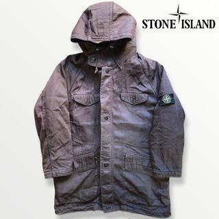 STONE ISLAND - STONE ISLAND ストーンアイランド レザー風 ダウンコートジャケット