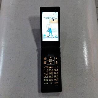 エヌティティドコモ(NTTdocomo)のドコモ DOCOMO ガラケー ガラパゴス携帯 富士通 F-07F 黒 白ロム(携帯電話本体)