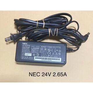 エヌイーシー(NEC)の同一型番2個送料込み☆中古純正品NECのACアダプター24V 2.65A(PC周辺機器)