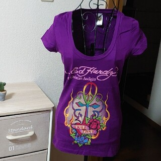 エドハーディー(Ed Hardy)のエド・ハーディー  レディース Tシャツ Sサイズ(Tシャツ/カットソー(半袖/袖なし))